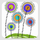 Physical Therapy Artsy Gifts Square Stickers