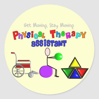 Physical Therapy Assistant Gifts Unique Graphics Round Sticker