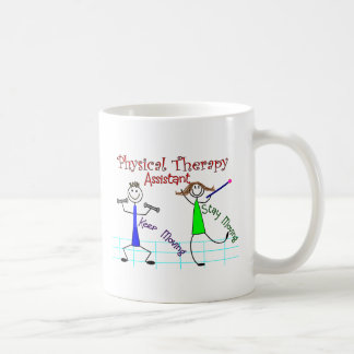 Physical Therapy Assistant Stick People Design Classic White Coffee Mug