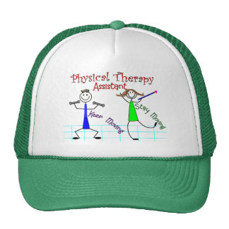 Physical Therapy Assistant Stick People Design Trucker Hat