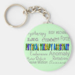 "Physical Therapy Assistant ""Terminology"" Design Keychains"