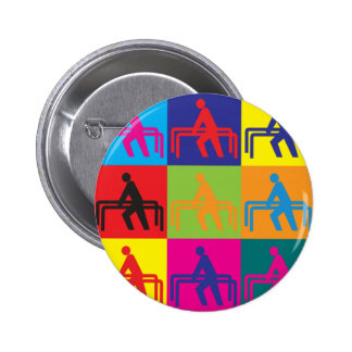 Physical Therapy Pop Art 2 Inch Round Button