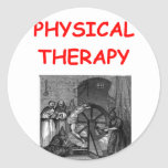 physical therapy round sticker