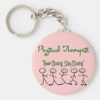 physicall Therapist Stick People Keychain