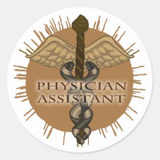 Physician Assistant Caduceus Classic Round Sticker
