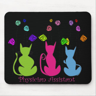 Physician Assistant Gifts Whimsical Cats Design Mouse Pad