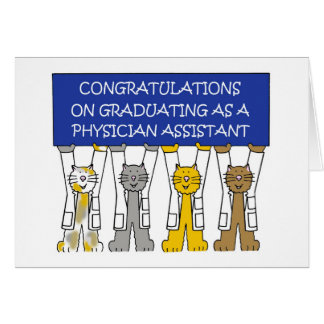 Physician assistant graduation congratulations card