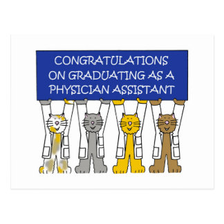 Physician assistant graduation congratulations postcard