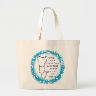 Physician Assistant Heart jumbo tote bag