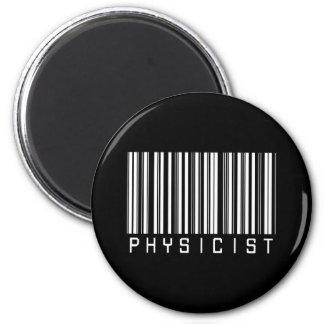 Physicist Bar Code 2 Inch Round Magnet