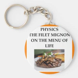 PHYSICS BASIC ROUND BUTTON KEYCHAIN