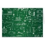 Physics Chalkboard Pattern Stationery Note Card