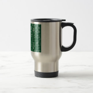 Physics Chalkboard Pattern Travel Mug
