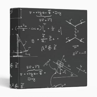 Physics diagrams and formulas binders