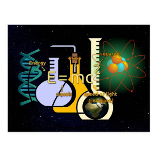 Physics E=mc2 colorful design Postcard