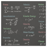 Physics Formulas Fabric Over Black