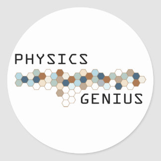 Physics Genius Round Sticker