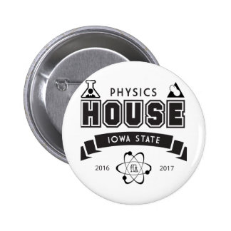 Physics House 2 Inch Round Button