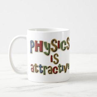 Physics is Attractive Funny Pun Basic White Mug