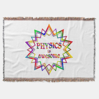 Physics is Awesome Throw Blanket