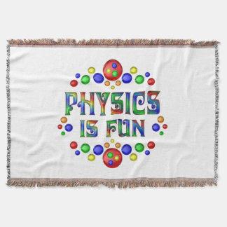 Physics is Fun Throw Blanket