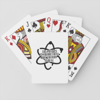 PHYSICS IS THEORETICAL Science Funny Playing Cards