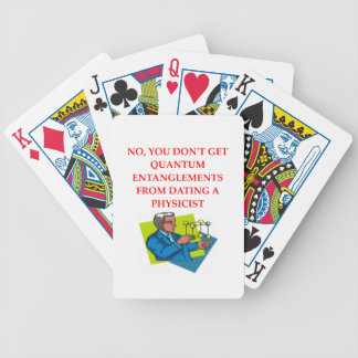 physics joke bicycle playing cards