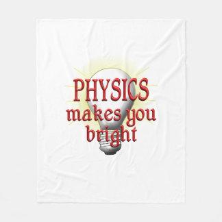 Physics Makes You Bright Fleece Blanket