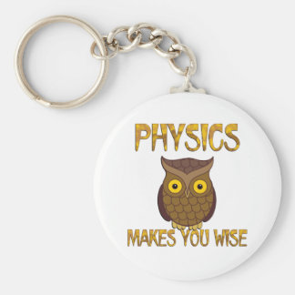 Physics Makes You Wise Basic Round Button Keychain
