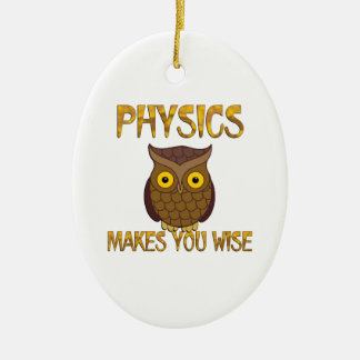 Physics Makes You Wise Ceramic Oval Ornament