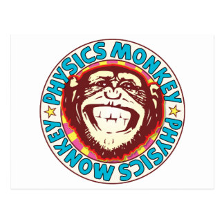 Physics Monkey Postcard