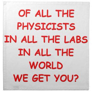 physics cloth napkins