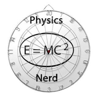 Physics nerd dartboard
