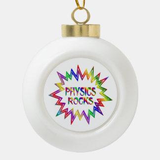 Physics Rocks Ceramic Ball Christmas Ornament