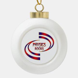 Physics Rocks Ceramic Ball Ornament