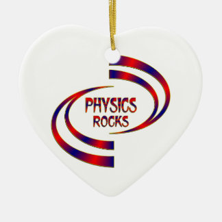 Physics Rocks Ceramic Heart Ornament