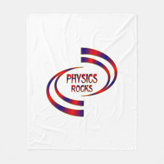 Physics Rocks Fleece Blanket
