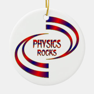 Physics Rocks Round Ceramic Ornament