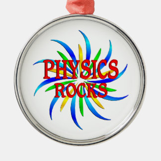 Physics Rocks Silver-Colored Round Ornament