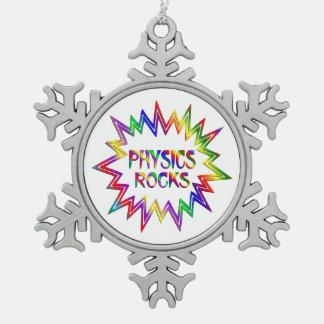 Physics Rocks Snowflake Pewter Christmas Ornament