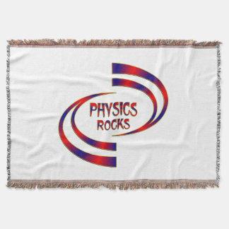 Physics Rocks Throw Blanket