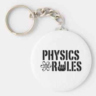 Physics Rules Basic Round Button Keychain