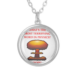 PHYSICS SILVER PLATED NECKLACE
