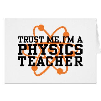 Physics Teacher Greeting Card