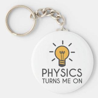 Physics Turns Me On Basic Round Button Keychain