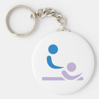 Physiotherapist Basic Round Button Keychain