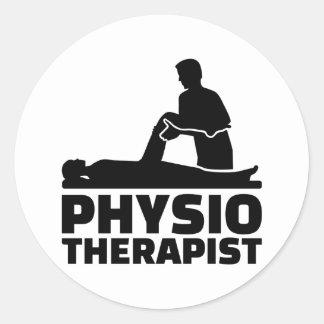 Physiotherapist Round Sticker