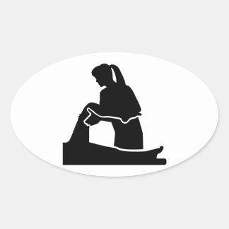 Physiotherapist woman oval sticker
