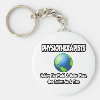 Physiotherapists ... World a Better Place Basic Round Button Keychain