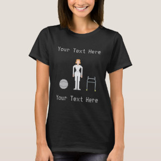 Physiotherapy Custom Female 8Bits Style T-Shirt